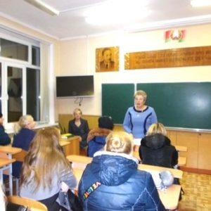О здоровье школьников  говорили на родительском собрании  в  средней школе №2 г. Сморгони