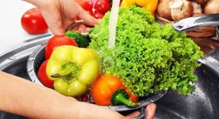 Моем овощи, фрукты правильно!