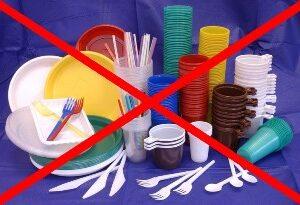 О запрете использования и продажи  в объектах общественного питания одноразовой пластиковой посуды