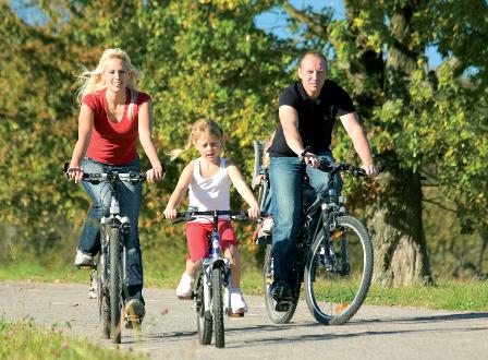 Покатайтесь на велосипеде